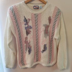Vintage Jazzie Knit Sweater Womens Medium